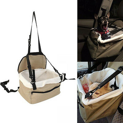Portable Puppy Dog Travel Booster Bag Soft Safety Car Cat Seat Carrier Decor A12