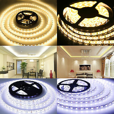1-20M LED Strip 300LEDs Light 3528SMD Lighting Flexible Controller Adapter