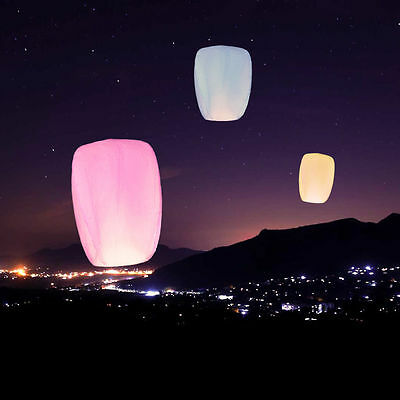 5pcs Chinese Lanterns Lucky Sky Fire Fly Candle Lamp for Wish Love Wedding party