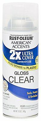 Rust Oleum 280702 American Accents Ultra Cover 2X Spray Paint, Gloss Clear,