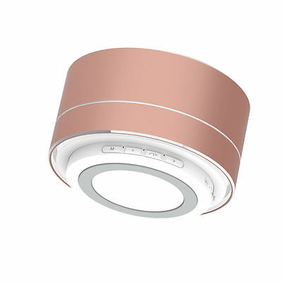 Portable Mini Bluetooth Wireless Subwoofer Stereo Speaker Tablet PC Rose Gold