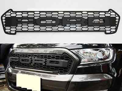 Matte Black Front Grille Grill For Ford Ranger Minor Change Mk2 2015 2016 2017