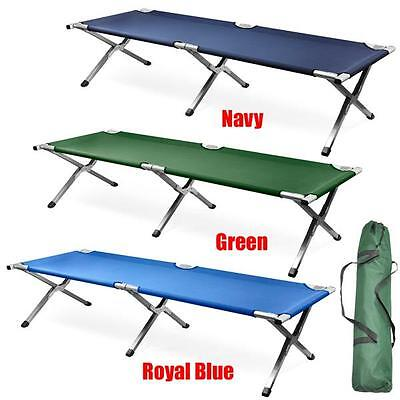 Folding Camping Bed Stretcher Light Weight Camp Portable Travel Bed w/ Carry Bag