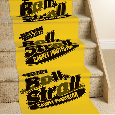 Everbuild Roll and Stroll Carpet Floor Protection Protector Film 600mm 25M 75M