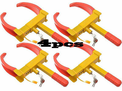4X Wheel Lock Clamp Boot Tire Claw Trailer Auto Car Truck Anti-Theft Towing New#