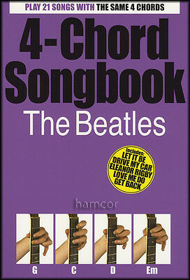 4-Chord Songbook The Beatles Guitar Chord Song Book with Lyrics 60s Pop