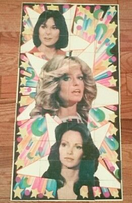 Vintage 1977 OPC Charlie's Angels Series 1 Complete Poster Puzzle Fawcett Smith
