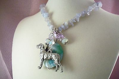 IRISH WOLFHOUND-Dog-AG2-HOT SALE-NECKLACE-Made by USArtisan- Jewelry-  FREE SHIP