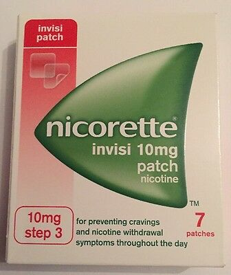 nicorette invisi patch 10mg  step 3. 09/2018 One Week Supply (7 Patches)