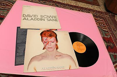 Bowie Lp Aladdin 1°St Orig Italy 1973 Nm Deep Groove Inserto E Copertina Provvis