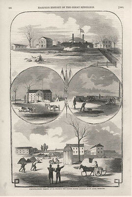 Fortifications Thrown up to Protect the U. S. Arsenal at St. Louis, Missouri