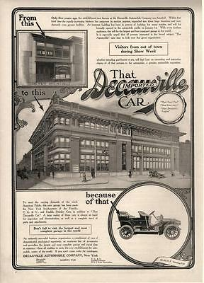 Decauville Automobile  -  largest & best equipped garage in the world  -  1906