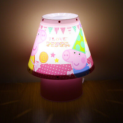 Peppa Pig Kool Lamp - bedside lamp, children's, kids, lighting, character, pink