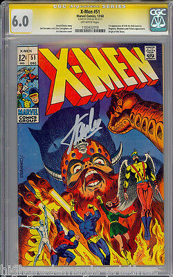 X-Men #51 Cgc 6.0 Ss Stan Lee Sig Series Signed Origin Of The Beast #1183432018