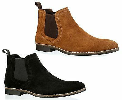 Red Tape Mens Stockwood Suede Leather Ankle Chelsea pull on Tan Brown Boots