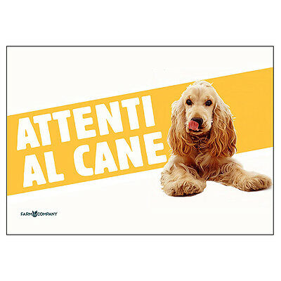 "Cartello ""Attenti Al Cane"" – Cocker"