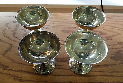 "VINTAGE SET Of 4 INTERNATIONAL Sterling SILVER CHAMPAGNE GOBLETS ""LORD SAYBROOK"""