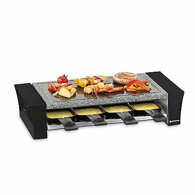 Swissmar KF-77088 Ticino Raclette Party Grill with Stone Plate, Black