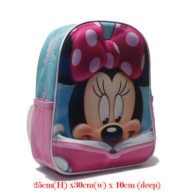 Kids Girls Large Shoulder School Bag Backpack Rucksack Disney Minnie Mouse Gift