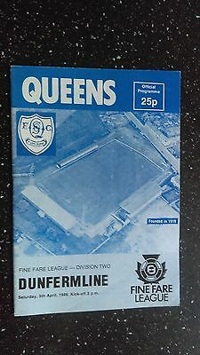 Queen Of The South V Dunfermline Athletic 1985-86