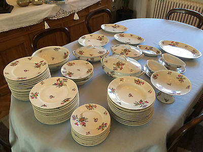 SERVICE DE TABLE PORCELAINE  DE LIMOGES - 64 PIECES - Jacques TIELES