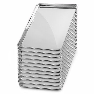 "Full Sheet Aluminum Baking Pans 18"" x 26"" - 12 Pans"