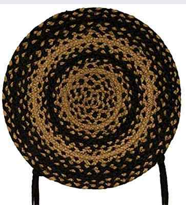 Chair Pads Braided Chair Pads Indoor Decorative Accent Ebony Braided Chair Pads