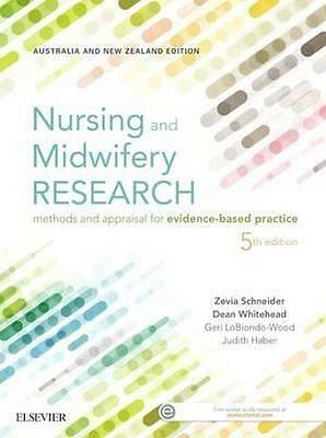NEW Nursing and Midwifery Research By Schneider Paperback Free Shipping