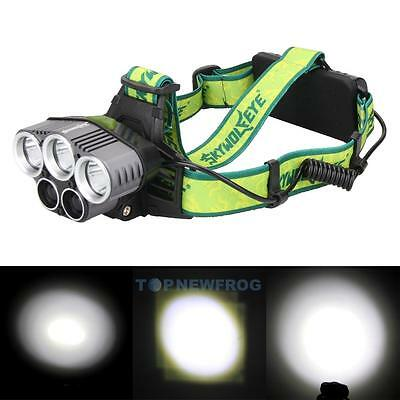 Zoomable 30000LM 5X XM-L T6 LED Rechargeable USB Headlamp Headlight Light Torch
