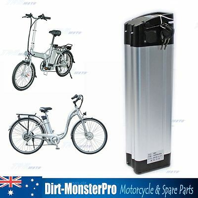 New 36V 10Ah Fish Electric Bicycles Lithium Li-ion fisher Battery E-Bike Silver