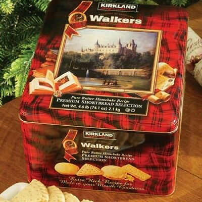 Walkers Premium Butter Shortbread Biscuits Selection Large Tin Gift 2.1kg