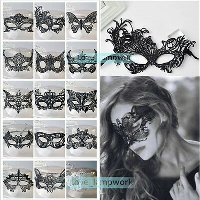 Sexy Lace Eye Mask Venetian Masquerade Ball Halloween Party Fancy Dress Costume