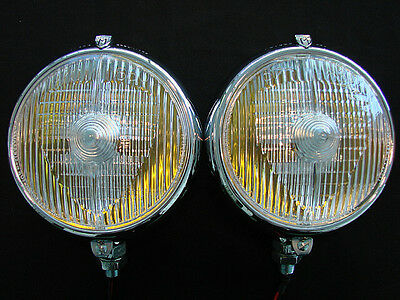 "Marchal 670/680 5-3/4"" Fog Lights With 12V. 55 Watt Amber Bulbs."