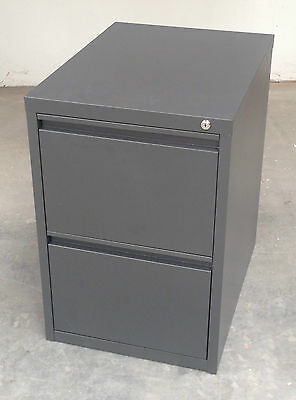 Office Steel 2 Drawer Filing Cabinet - Graphite Ripple