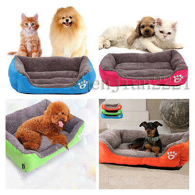Pet Dog Cat Bed Cushion Kennel Puppy Dog Mat Blanket Bed Pet Soft Pad Warm House