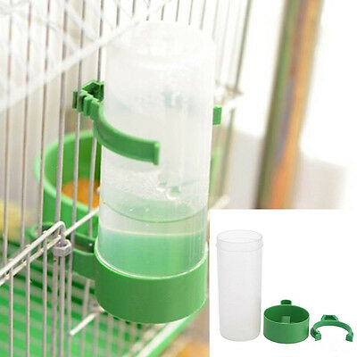 Bird Pet Water Drinker Food Feeder w/ Clip for Lovebirds Aviary Budgie Parrot