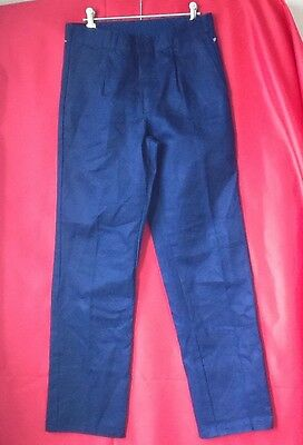 King Gee Pants Work PPE Blue 77R Cotton Drill Workwear