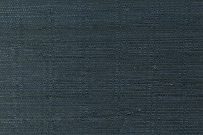 Navy Genuine Grasscloth Wallpaper - 5.5 metre length roll