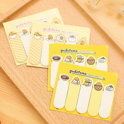 4Pcs Cartoon Sticker Office Post It Bookmark Marker Memo Index Sticky Notes New