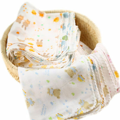 1/5 Soft Baby Infant Newborn Washcloth Bath Towel Bathing Feeding Wipe Cloth sn