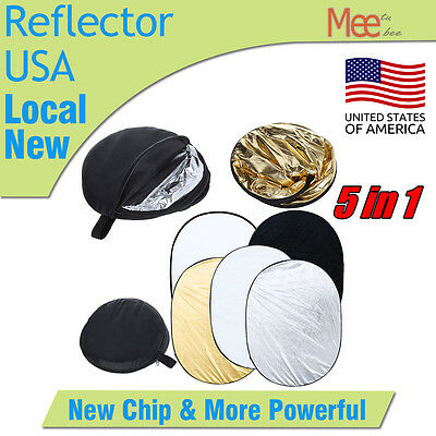 90x120cm 5-in-1 Photo Photography Studio Light Mulit Collapsible Reflector Case