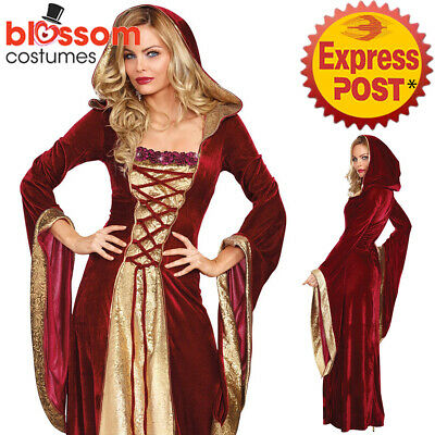 K2305 Burgundy Gown Game Thrones Renaissance Medieval Queen Fancy Dress Costume