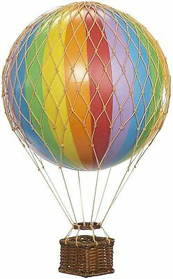 Floating the Skies Hot Air Balloon Color: Rainbow Authentic Models Decor New