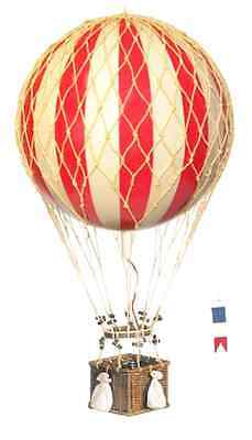 Royal Aero Balloon in Red/Ivory & Natural Finish 22 in. Dia. x 12.6 in. H, New