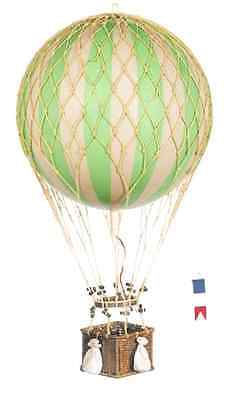 Royal Aero Balloon in Green/Ivory & Natural Finish 22 in. Dia. x 12.6 in. H