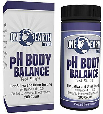 Ph Test Strips 200 Count - Great for Alkaline diet and overall ph balance - Free