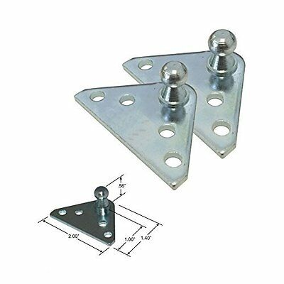 10MM Ball Stud Bracket for Gas Spring/Prop/Strut 2 Pack