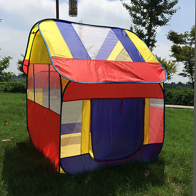HOT Quadrangle Children Play Tent Kids Indoor Outdoor Game Playhouse Toys House
