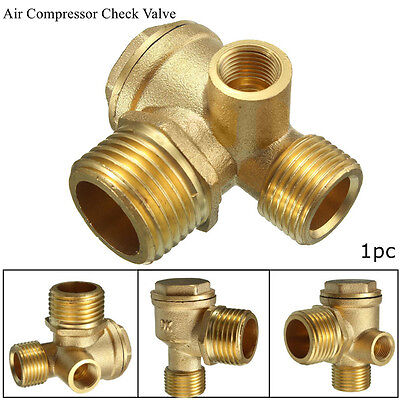 3 Way Air Compressor Spare Parts Male Female Threaded Connector Check Valve 90°