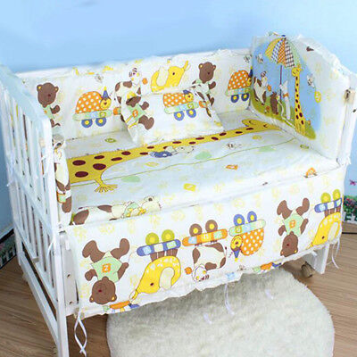 Popular Baby Crib Nursery Bedding Sets Lovely Cartoon Cosy Infant Bed Accessory